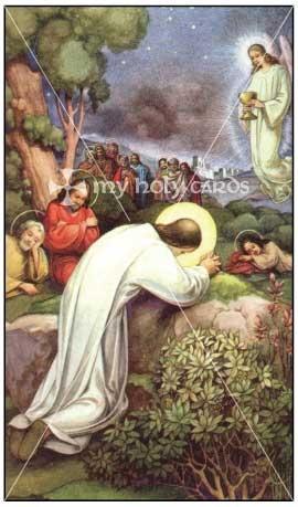 Suffering jesus gethsemane images catholic prayer cards - Trinity gardens church of christ ...
